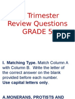 2nd Trimester Review Questions2014