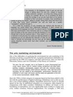 the Arts Marketing Environment & Key Issues and Problems for Arts Marketeers