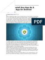 How to Install Any App as a System App on Android