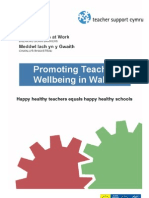 Promoting Teacher wellbeing in Wales