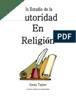 Un Estudio de La Autoridad en Religion