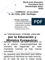 PLENO Confech - 13 de Diciembre 2014