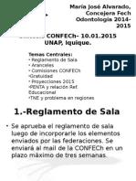 PLENO Confech - 10 de Enero 2015