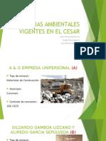 Licencias Ambientales Vigentes en El Cesar