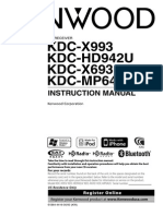 Kenwood KDC-X693 Manual
