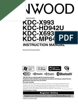 Kenwood KDC-X693 Manual | I Tunes | Compact Disc