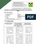 Informe Gestion Anual Secundaria