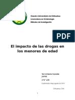 impacto de las drogas en los menores de edad