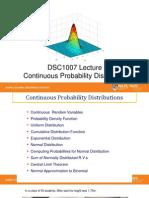 4 Continuous Probabilities