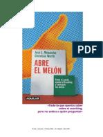 Abre El Melón - Introduccion al coaching