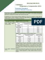PROGAN Programas y Componentes 2015 Ultimo