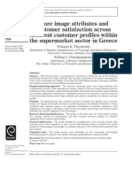 Store Image Attributes and Customer Satisfaction Across Different Customer Profiles Within the Supermarket Sector in Greece