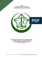 132188769 Pedoman Dan Kebijakan Keselamatan Pasien Rumah Sakit Islam Bogor