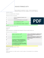 Automatas y Lenguajes Formales Act4