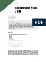 Manipulasi Database MYSQL Dgn PHP