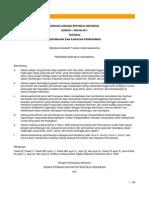 UU No. 1 Tahun 2011 Tentang Perumahan Dan Kawasan Permukiman