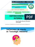 Unidad I Toxicologia