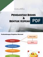 Pengantar Bisnis Dan Kepemilikan Bisnis (Pertemuan Kedua)