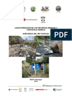 Caracterización recursos hídricos, subcuenca del Río Tapacalí, Nicaragua