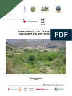 Estudio de calidad de suelos, subcuenca del Río Tapacalí, Madriz, Nicaragua