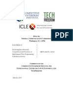 CEI-ICLE-TechFreedom comments in the matter of promoting innovation and competiton in the provision of multichannel video programming distribution services