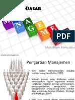 Dasar –Dasar Manajemen (Pertemuan Keenam)