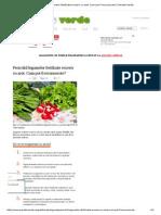 Pericolul Legumelor Fertilizate Excesiv Cu Azot