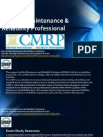 Certified Maintenance & Reliability Professional  Practice Test Paper