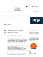 Milestones of a Typical E-Learning Project