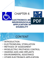 ELECTRONICS AND NEUROMUSCULAR APPLICATION IN DISABILITY