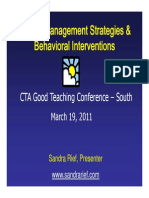 ADHD Management Strategies Behavioral Interventions
