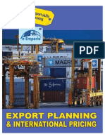 Export Planning and Pricing
