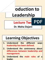 Lecture Two Introduction to Leadership