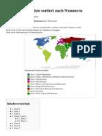 Ländervorwahlliste Sortiert Nach Nummern – Wikipedia