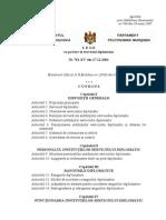 "Legea Cu Privire La Serviciul Diplomatic"" Nr. 761-XV Din 21 .12.2001"