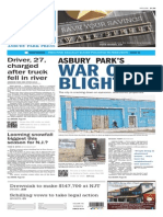 Asbury Park Press front page Wednesday, March 4 2015