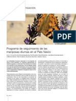Programa de seguimiento de las mariposas diurnas en el País Vasco