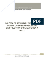 Politica de Recrutare Si Selectie - ASF
