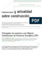 Entregados Los Premios a Las Mejores Instalaciones de Eficiencia Energética 2014 - Infoconstrucción