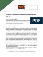 El Sueño de La Objetividad, Historiografía y Posmodernidad en El Siglo XX