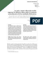 Indicadores por entidad de laEducación  Media en México