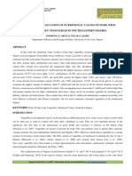 3. Applied- Comparative Evaluation of Nutritional Values of Some Wild Plants Leafy Vegetables in South Eastern Nigeria