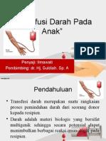 Transfusi Darah Pada Anak