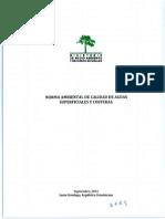 Norma Ambiental Sobre Calidad de Aguas Superficiales y Costeras