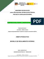 Modelo Agropecuario Reglamento Interno Uep