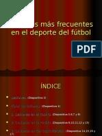 Lesiones Más Frecuentes en El Deporte Del Fútbol