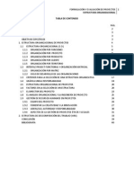 Estructura Organizacional de Proyectos