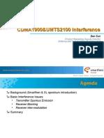UMTS2100 & CDMA1900 Interference Ver A