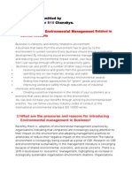 Business Benefits of Environmental Management