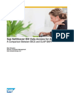 Sap NetWeaver BW Data Access for Analytics-BICS vs. OLAP BAPI